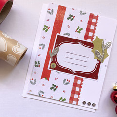 Card - Gingham and Holly