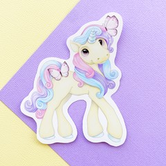 Unicorn die cut gloss vinyl sticker, planner sticker, laptop sticker