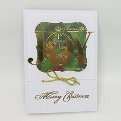 Christmas Card - JOY, Red/Green