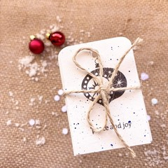 Decorative gift tags - Blue