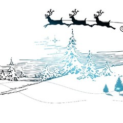 Blue christmas themed  greeting card