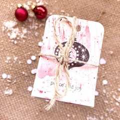 Decorative gift tags - Red