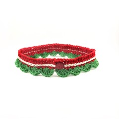 Crocheted soft decorative Christmas collar for your furkids, canine and feline