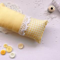 Pincushions - Yellow Gingham