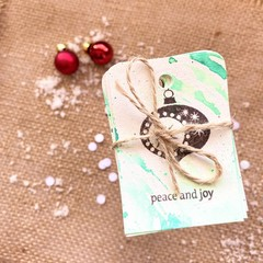 Decorative gift tags - Green