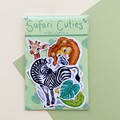 Safari animals die cut sticker pack, planner stickers, scrapbooking