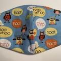 Face Mask - Owl Print
