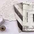 Fabric Bookmarks - Sewing in White