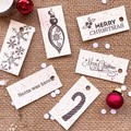 Mini decorative gift tags - Red Spots