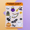 Halloween Sticker sheet, planner stickers, scrapbook stickers