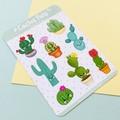 Cactus plants sticker sheet, cute stickers, planner stickers, scrapbooking