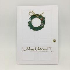 Christmas Card - Door with Wreath
