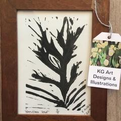 Grevillea leaf print
