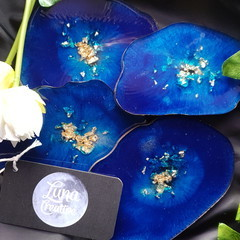 Custom Resin Agate Coaster Set
