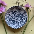 Beautiful Blue Paisley Porcelain Bowl