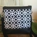 Jasmine Crossbody Bag - Black & White Geometric