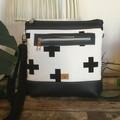 Jasmine Crossbody Bag - Black & White Crosses