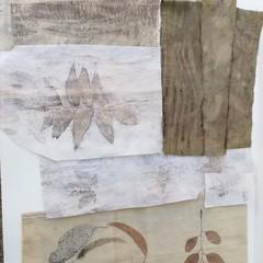 Botanically Printed Textile Pack #1 - Slow Stitch - Plant-Dyed Fabric