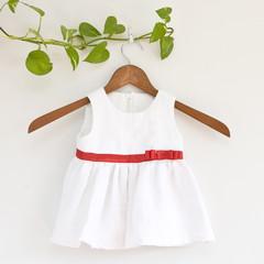 Eco Linen Baby Christmas Dress