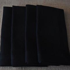 Cocktail Napkin Black - Set of 4, 6 or 8