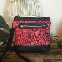Jasmine Crossbody Bag - Pink & Black Wood Grain
