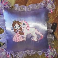 """Princess and Unicorn"" Cushion"