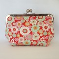 Clutch Purse - Red Floral