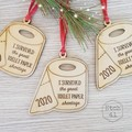 Christmas Tree Ornament -  Toilet Paper 2020