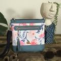 Jasmine Crossbody Bag - Blue/Pink Floral