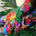 Fuzzy Silk Ribbon ~ * Recycled Silk from India * ~ 100gram Skeins colors/stripes