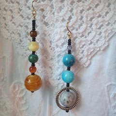 Solar Drop Earrings - colours of the universe