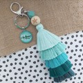 Be Brave -  Tassel keyring/bag tag