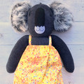 'Nicole' the Sock Koala - tutti frutti yellow - *MADE TO ORDER*