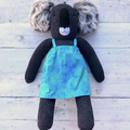'Patti' the Sock Koala - turquoise, green & blue - *MADE TO ORDER*