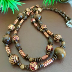 Double Strand Wooden Necklace
