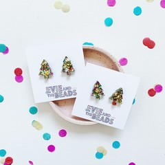 Super Glitter Christmas Tree Studs