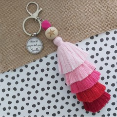 Never let anyone dull your sparkle  - Tassel keyring/bag tag