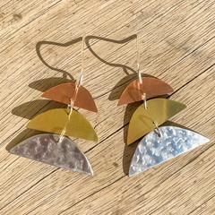 Handcut Sunrise Earrings