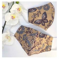 Traditional Indonesian Batik Face Mask - Batik Kupu Kupu