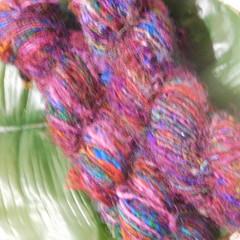 ~*~ *~ Recyled Sari Silk Hand Spun 100gram Skein ~ *~*~