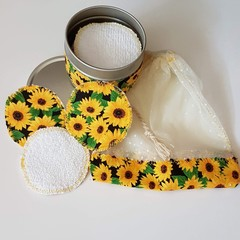 Reusable cotton makeup remover rounds.