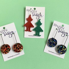 Christmas Glitter Earrings
