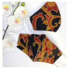 Traditional Indonesian Batik Face Mask - Batik Semarang