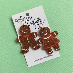 Christmas Gingerbread Earrings