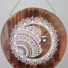 Wooden wall art/ cheeseboard  - Lace moon