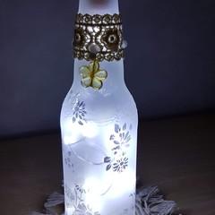 Upcycled bottle light - small - daisy