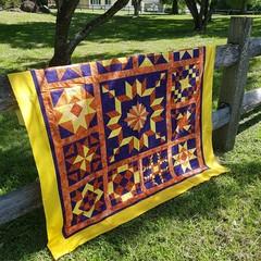 "Colonial Sampler Quilt - Throw Size - 167.5cm x 167.5cm (66"" x 66"")"