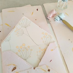 Peach & Petals Handmade Stationery Set