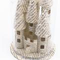 Fairy castle in a bell jar - Book art - Book sculpture - Altered books