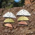 Handcut Sunset Earrings